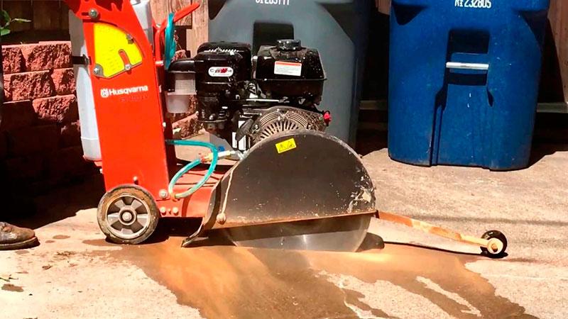 Locação de serra de cortar piso